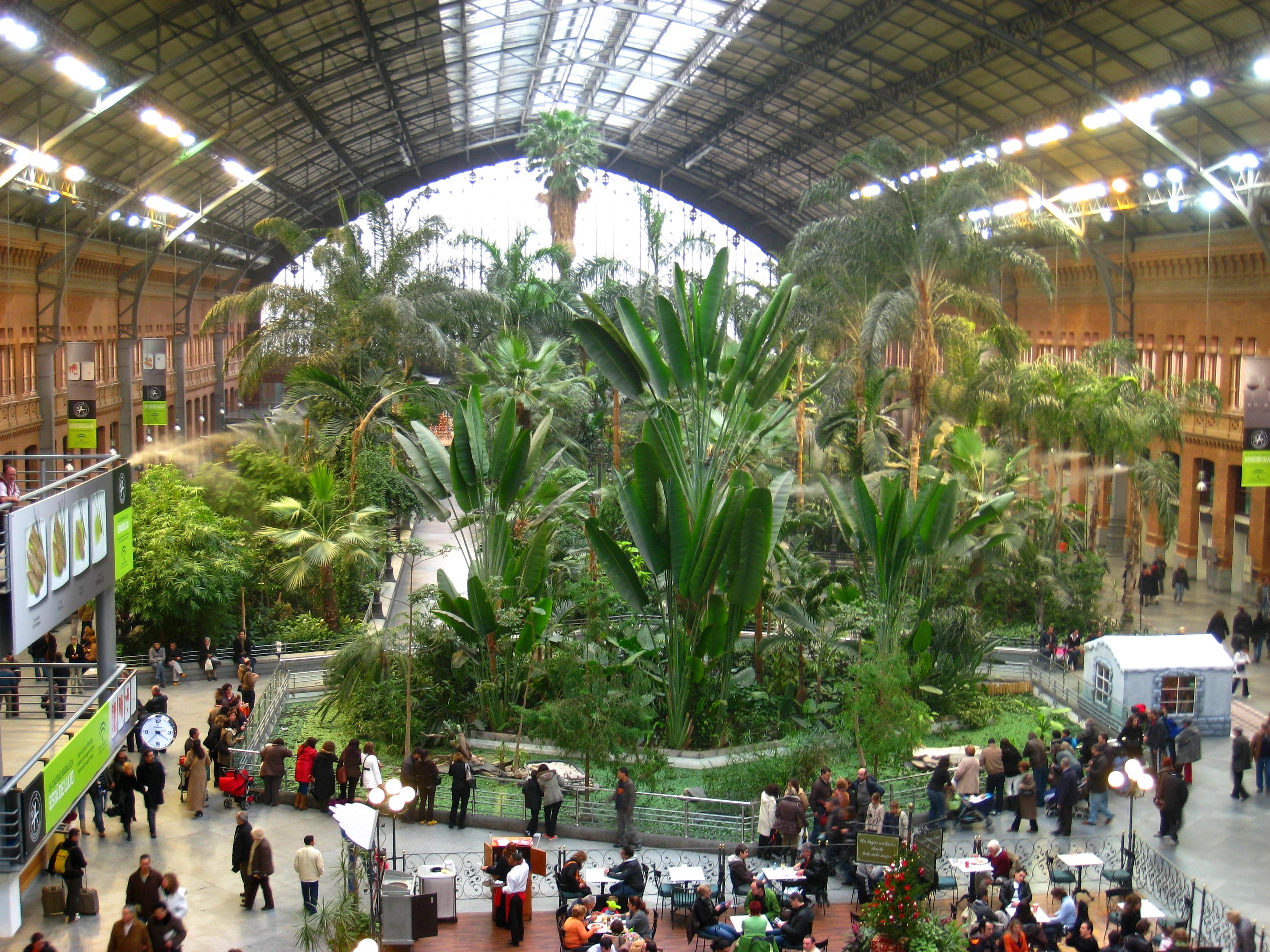 Estação de Atocha em Madrid, Espanha