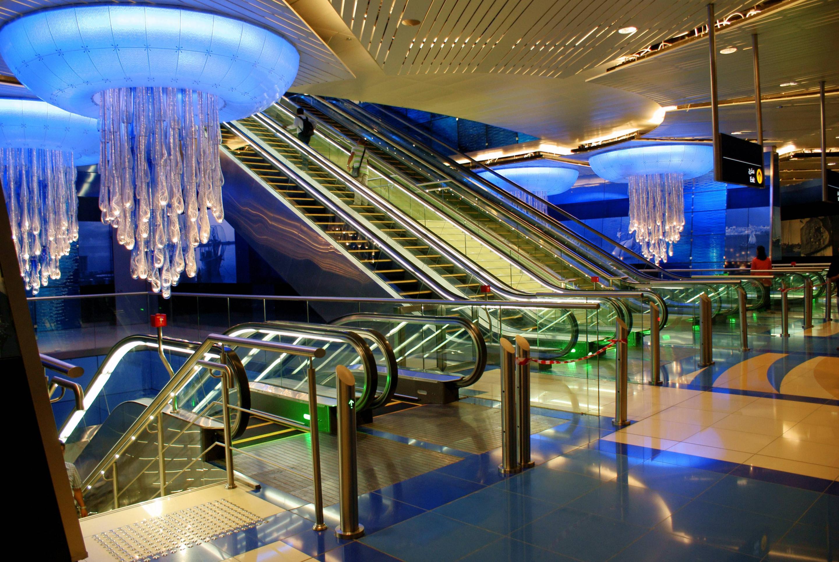 Estação Khalid Bin Al Waleed no Dubai, Emirados Árabes Unidos