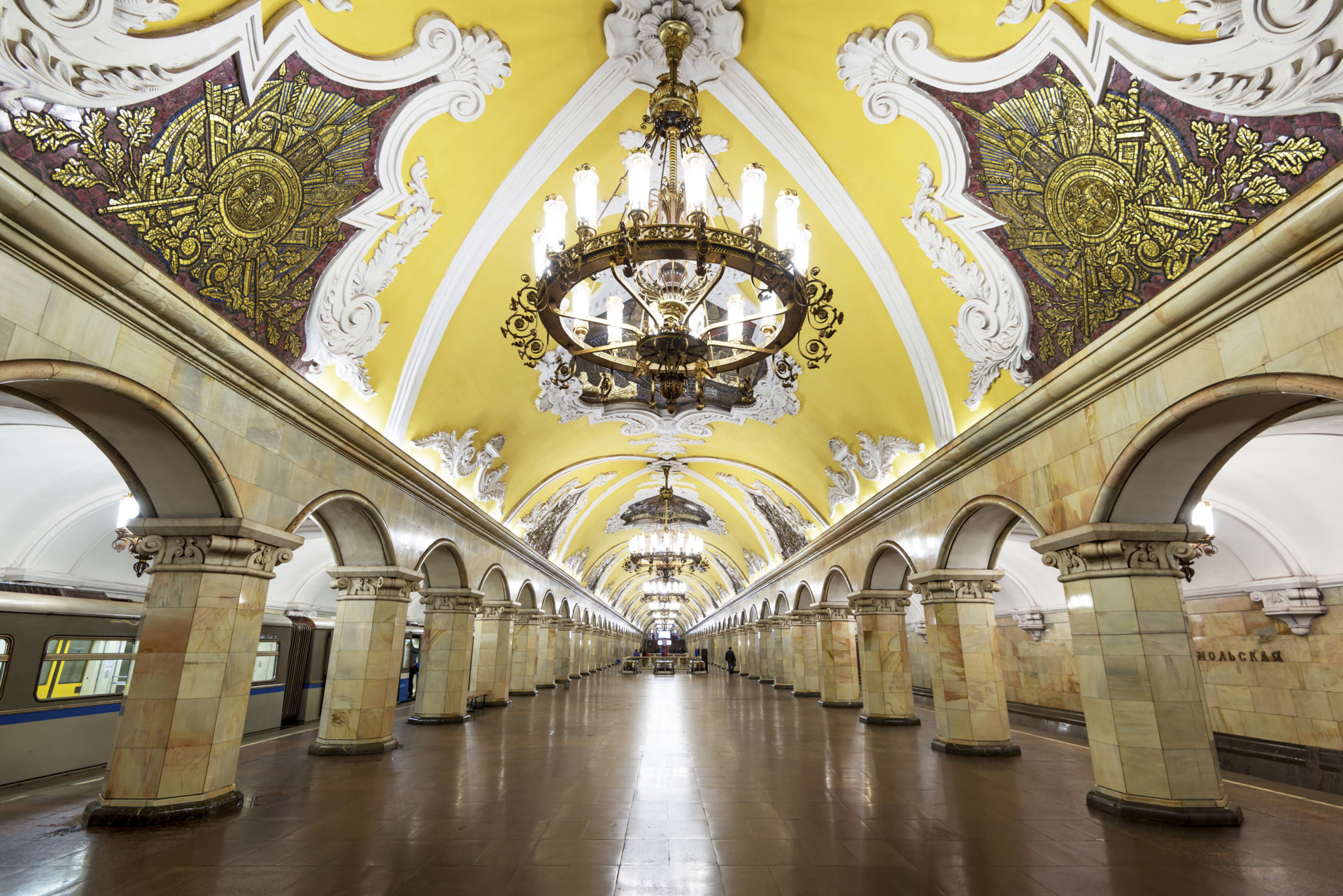 Estação Komsomolskaya em Moscovo, Rússia