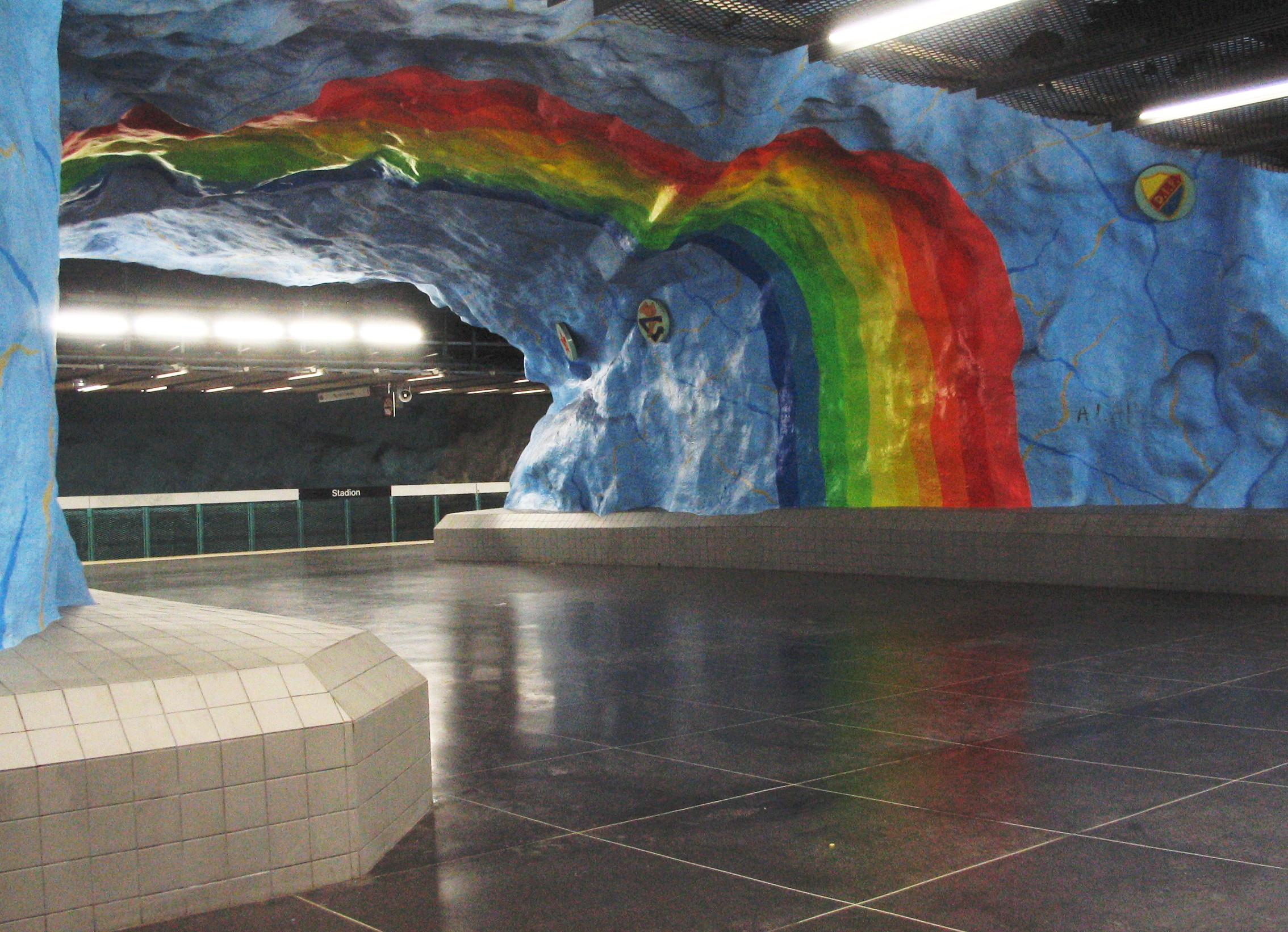 Stadion Station em Estocolmo, Suécia