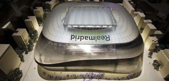 Maquete apresentada pelo Real Madrid para a reforma do Bernabéu