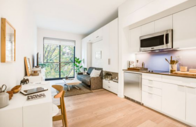 Interior de um mini-apartamento em Manhattan / Mekko Harjo (El País)