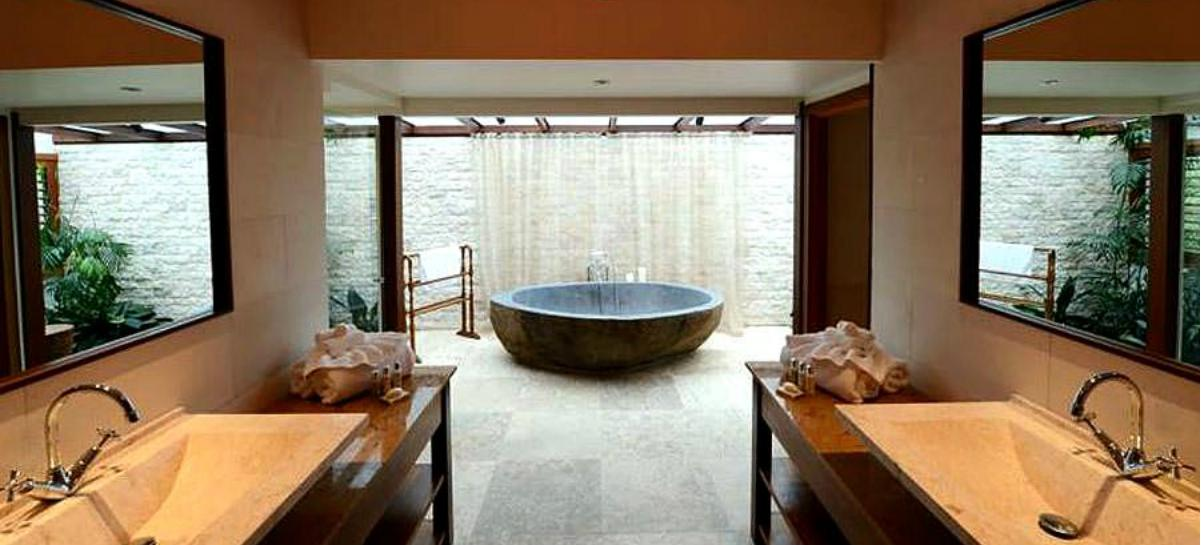 N o saber s o que um banho relaxante at experimentares - Baneras pequenas roca ...