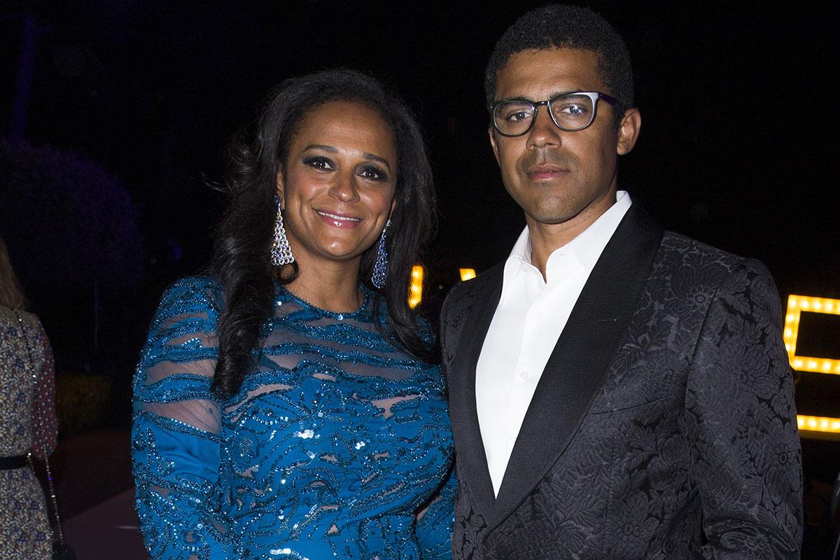 A empresária angolana Isabel dos Santos com o marido Sindika Dokolo