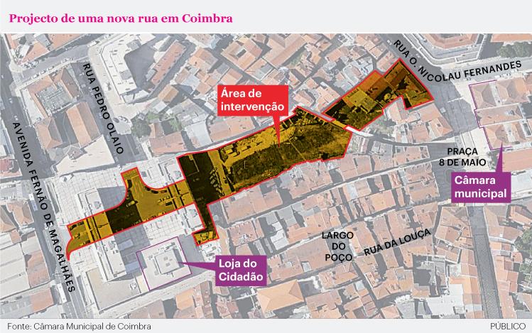 O projeto para a criação da Via Central (Foto: Público).