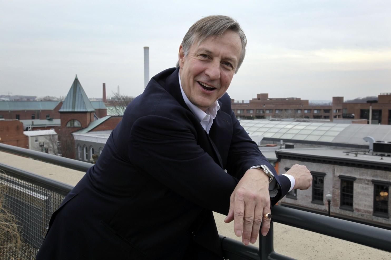Anthony Lanier, dono do EastBanc, no seu escritório em Washington D.C (EUA) - fotografia do The Washington Post