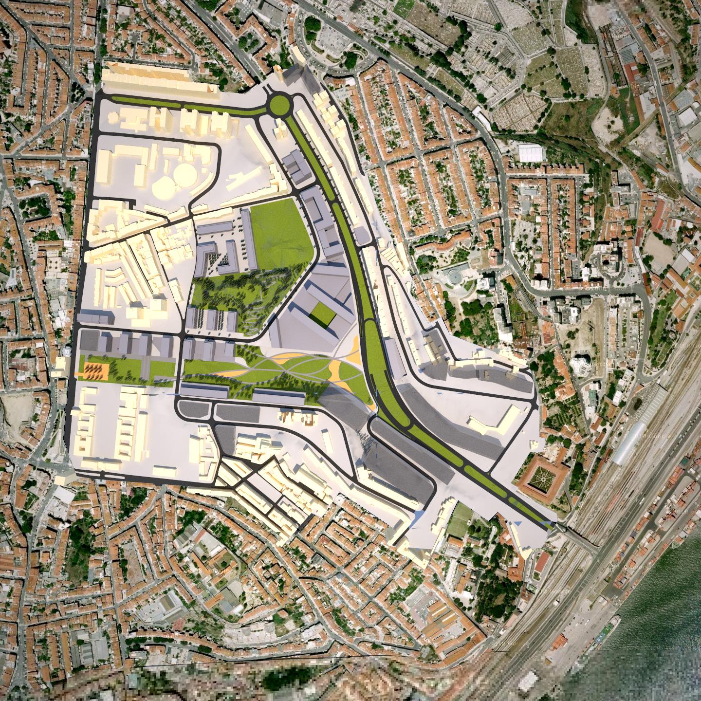 Imagem do futuro Vale de Santo António.