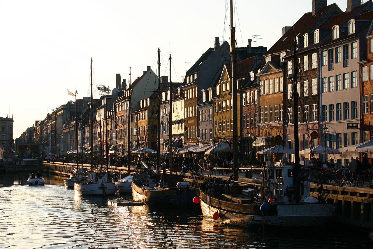 Vista panorâmica de Copenhaga, Dinamarca.