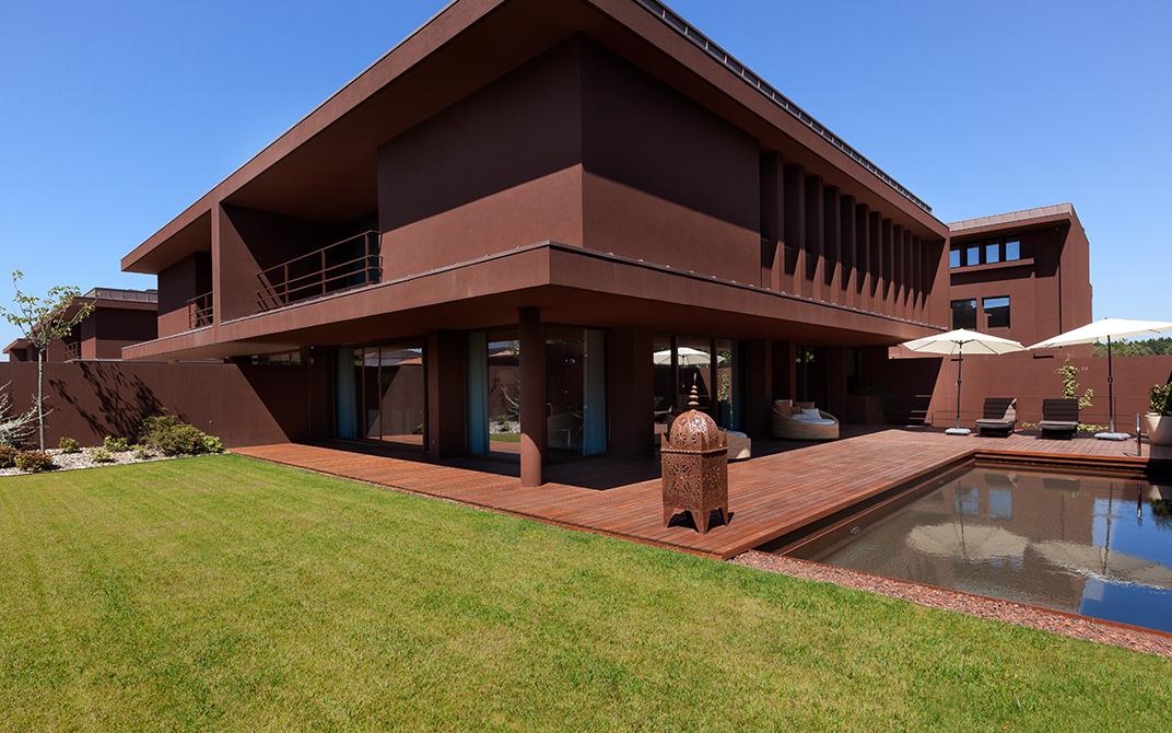 Uma das moradias do condomínio Villas do Parque, na Avenida Boavista, Porto