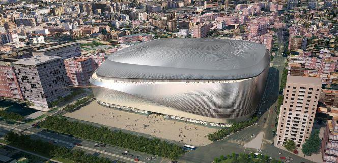 Maqueta da remodelação do Santiago Bernabéu, apresentada em 2014 (Foto: Cinco Días).
