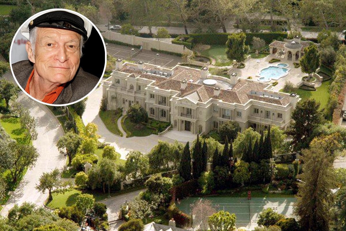 Hugh Hefner, fundador da revista Playboy, vendeu a sua célebre mansão em Los Angeles (EUA) por 100 milhões de dólares (88 milhõe