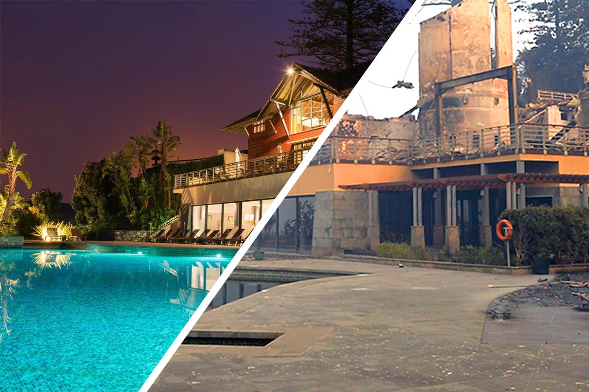 Choupana Hills. O antes e depois do hotel de luxo da Madeira consumido pelas chamas