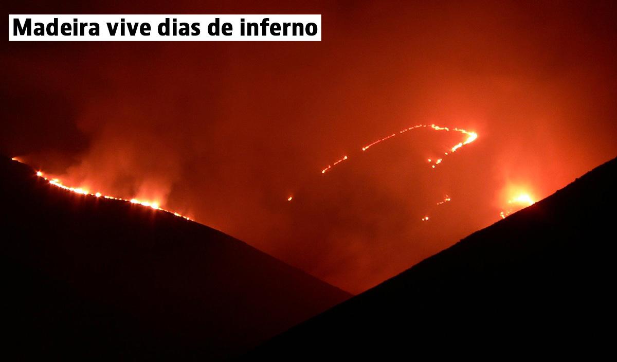 "Incêndio no Funchal consome ""pérola do Atlântico"": casas, shopping e hotel de cinco estrelas destruídos"