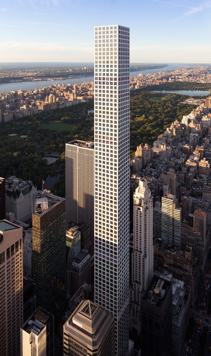 Este arranha-céus tem 426 metros de altura.