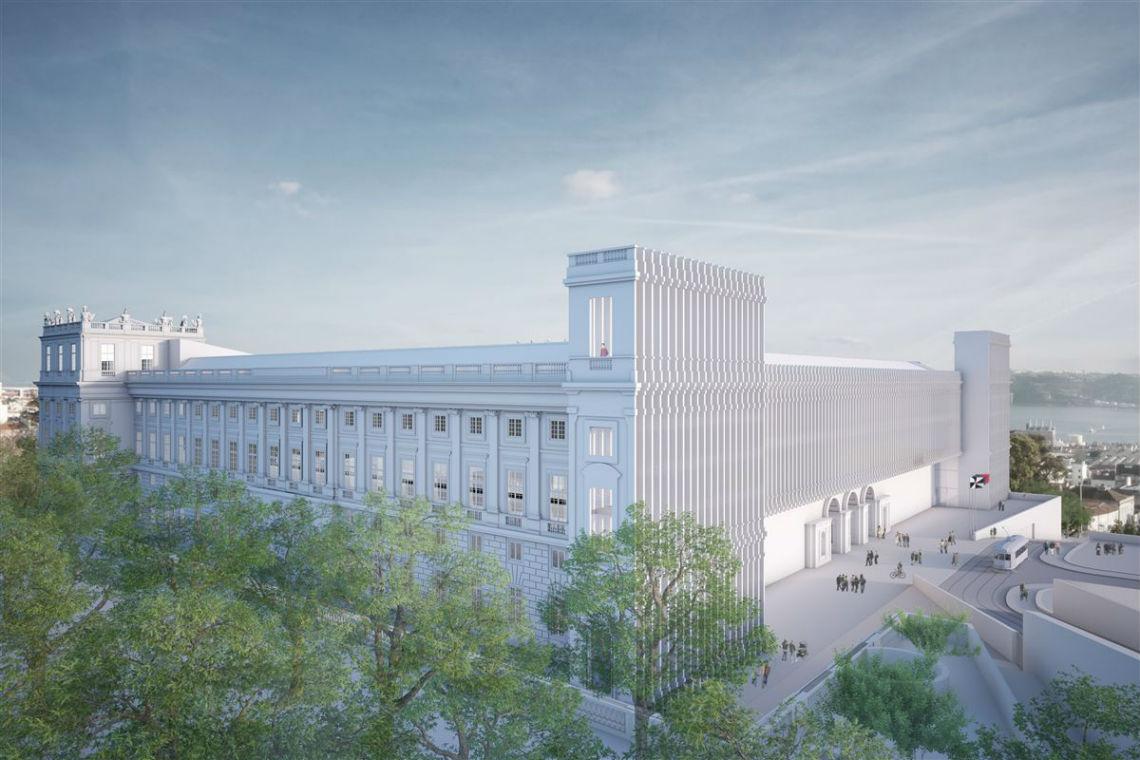 Assim será o futuro Palácio Nacional da Ajuda (Foto: TSF).