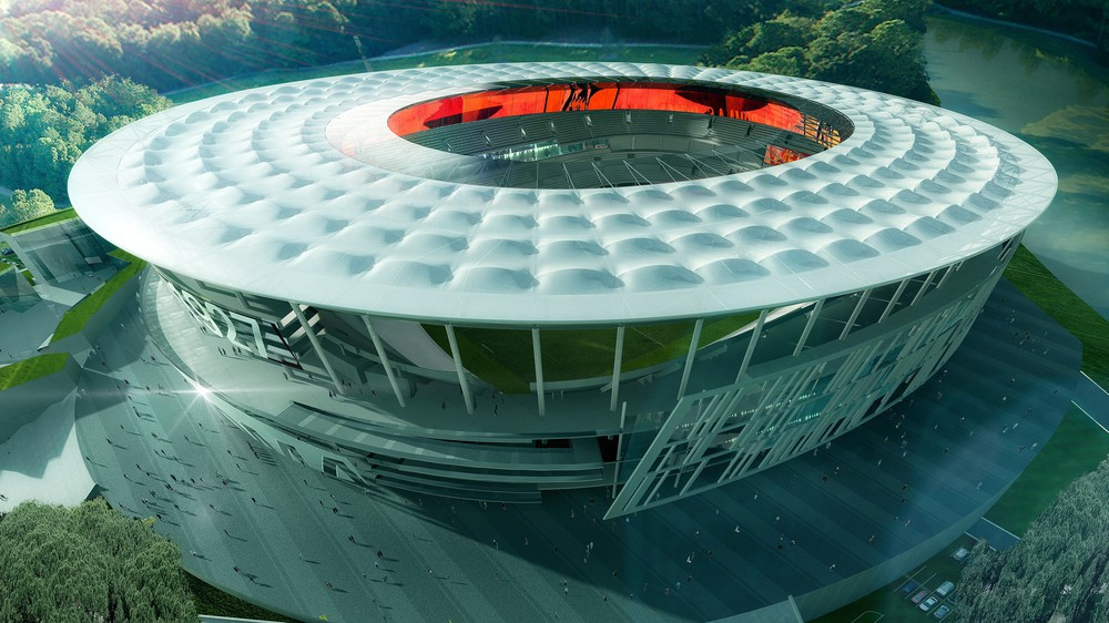 Novo estádio da Roma.