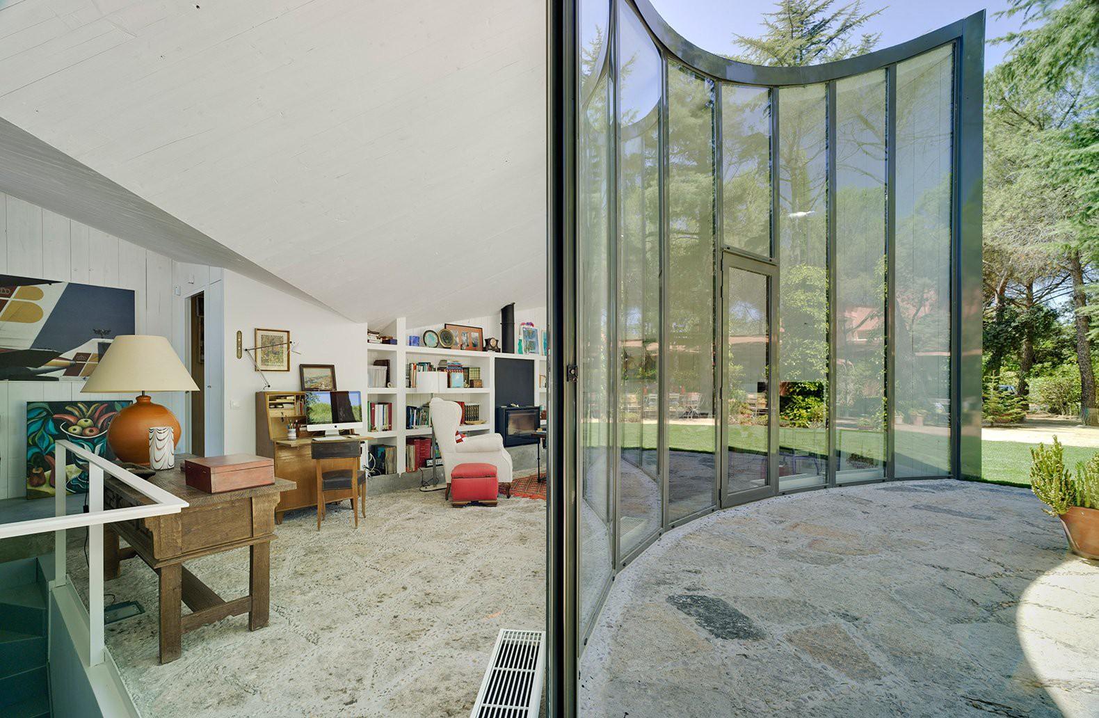 Interior e exterior da casa