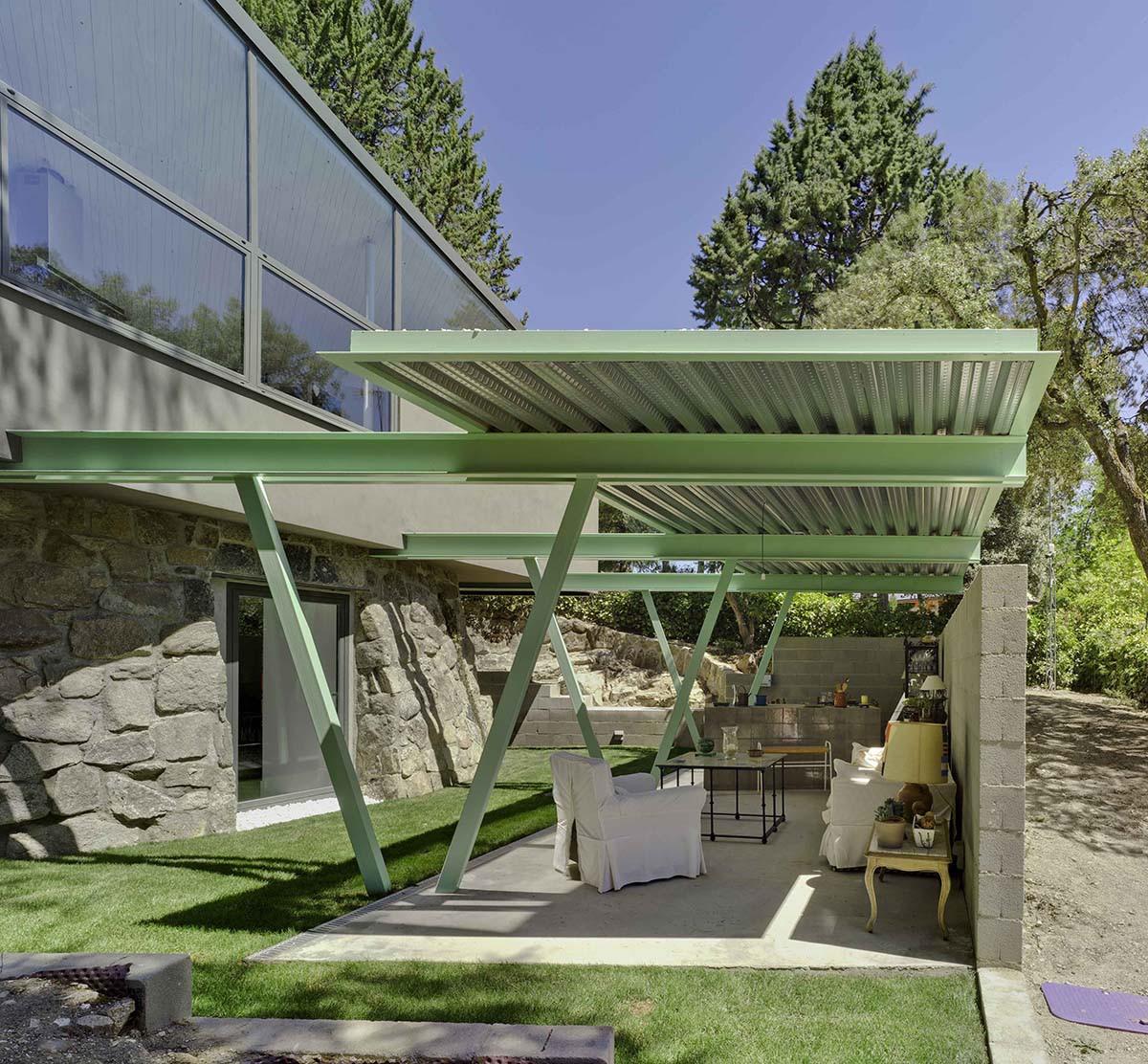 O terraço no jardim