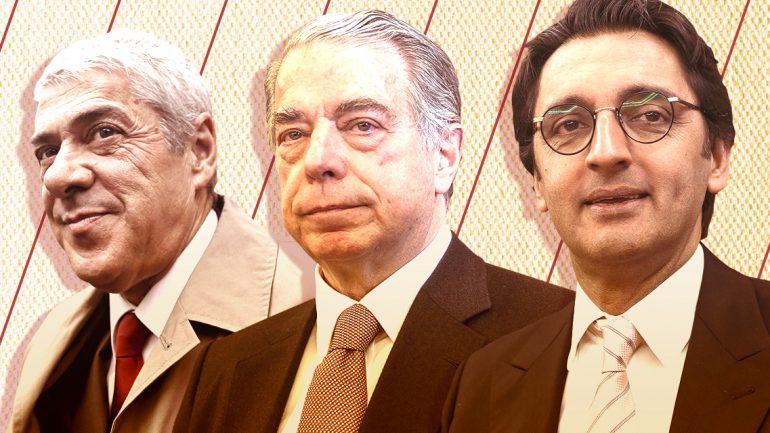 José Sócrates, Ricardo Salgado e Zeinal Bava (Foto: Observador).