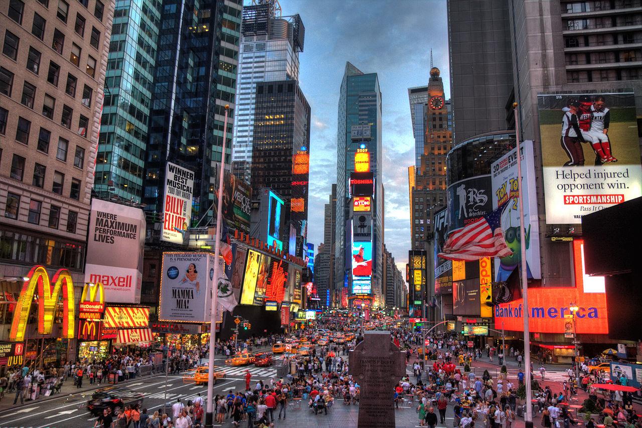 Só em Nova Iorque. nos EUA, há 78 bilionários. / Wikimedia commons