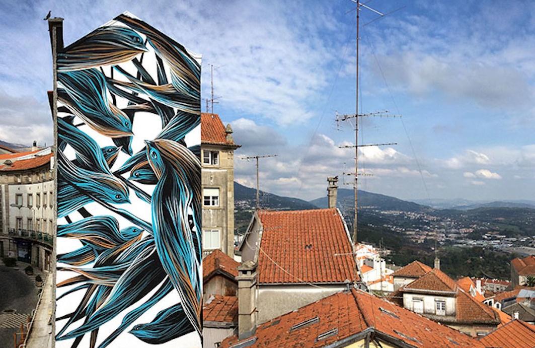 Mural num prédio da Covilhã.