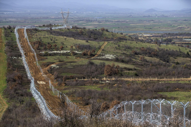 Vedação entre Grécia e Macedónia