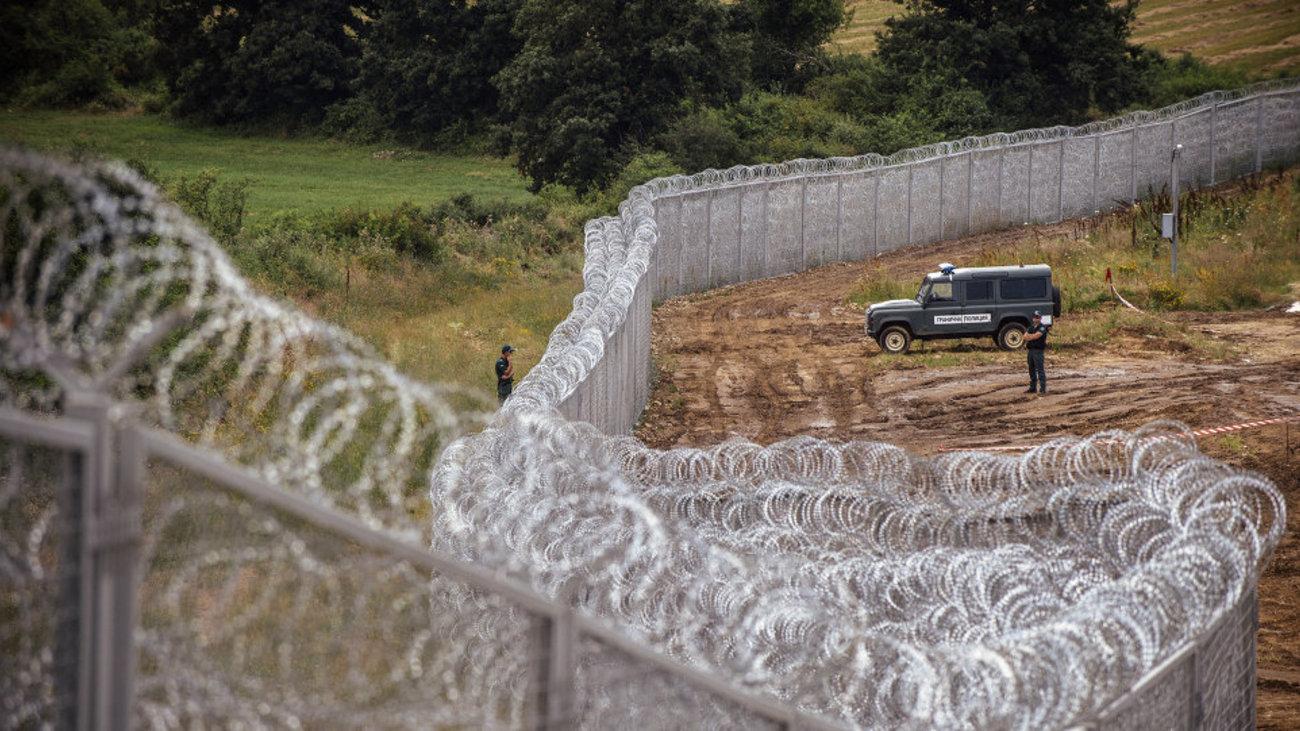 Vedação fronteiriça entre Turquia e Bulgária