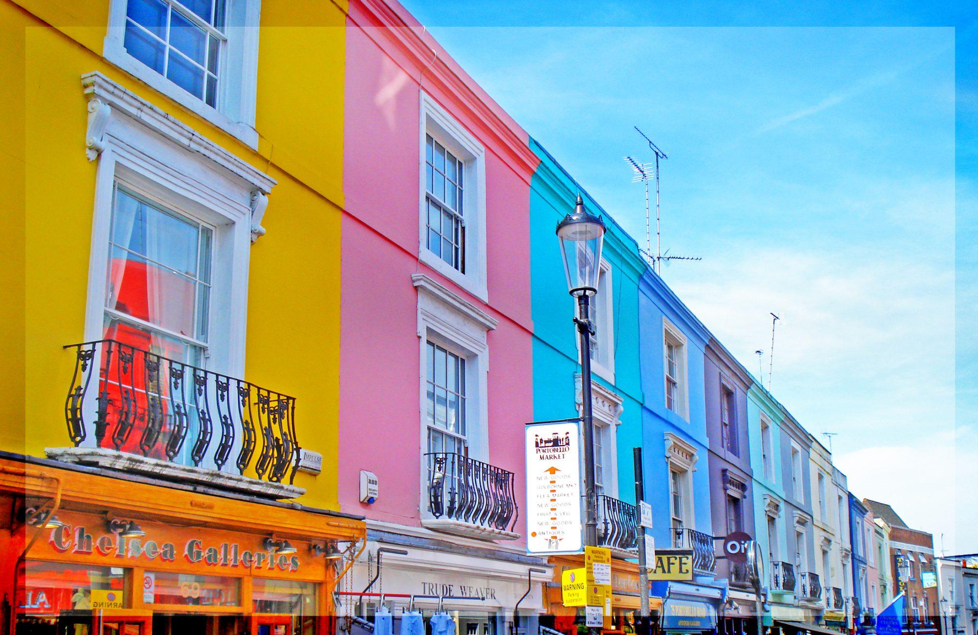Rua Portobello, em Notting Hill, Londres (Reino Unido)