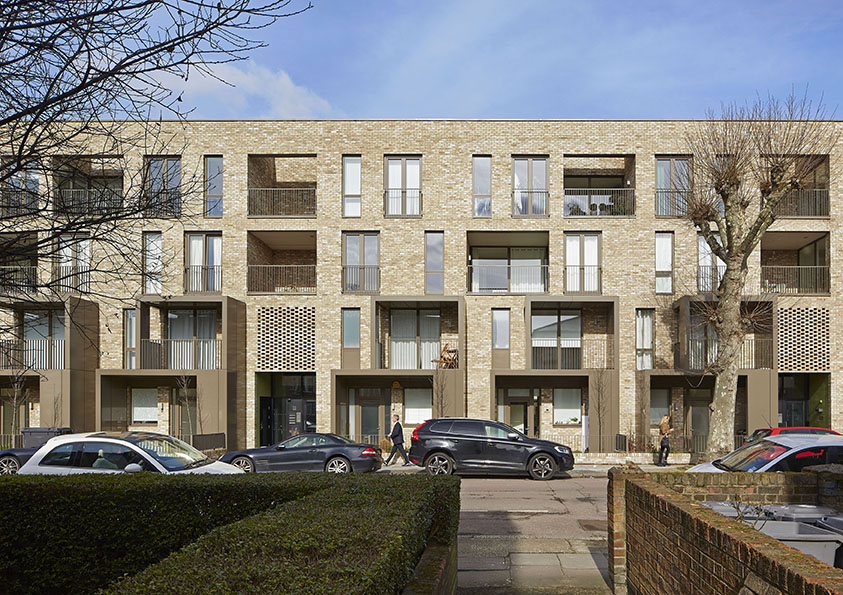 Ely Court. Londres, Reino Unido. Alison Brooks Architects. @Paul Riddle