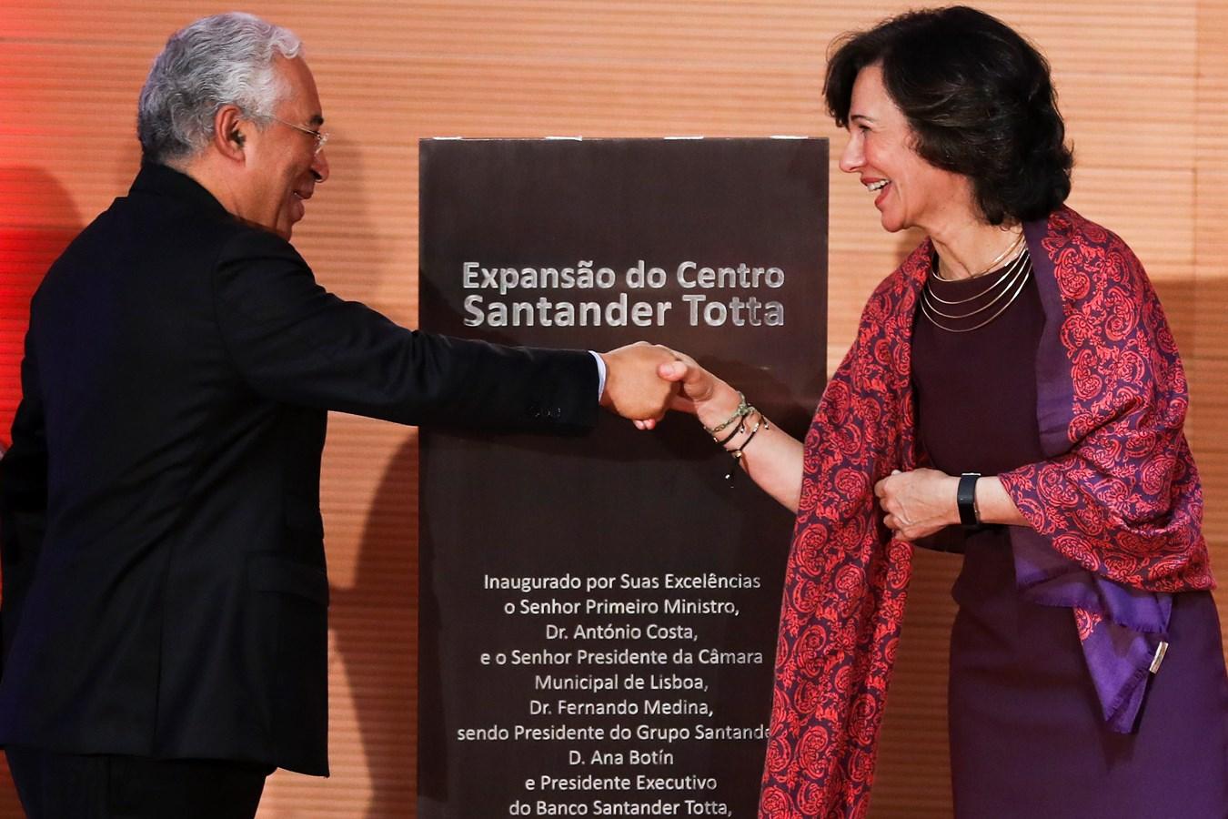 Inauguração da nova sede do Santander Totta em Lisboa