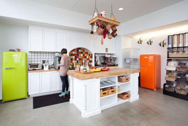10 – Cada sala da sede da Airbnb (São Francisco/EUA) é inspirada num país