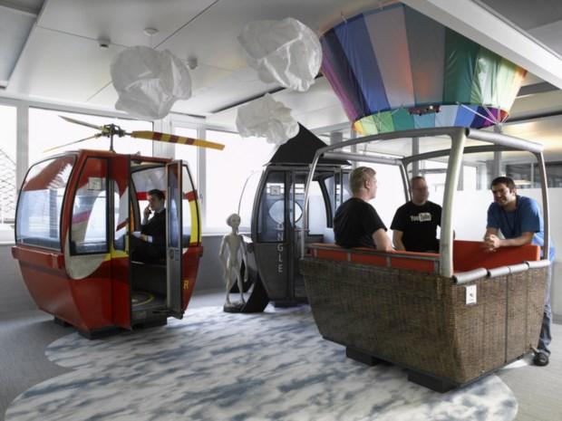 7 – Reina a criatividade nos escritórios do Google de Zurique (Suíça)