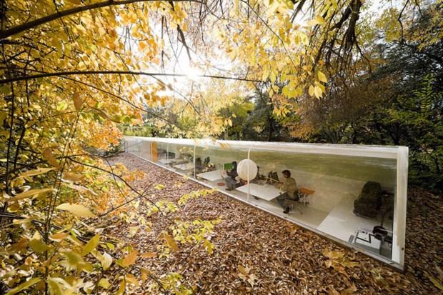 9 – Trabalhar ao ar livre no escritório de arquitetura espanhol Selgas Cano, em Madrid
