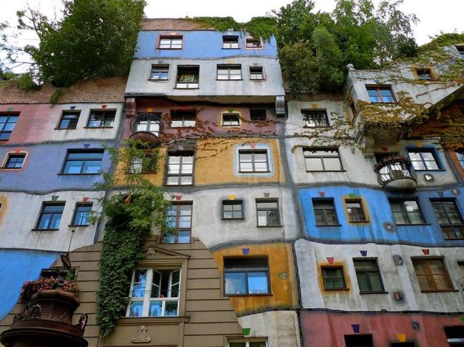 O puzzle em Viena (Áustria) que parece ter sido retirado de uma história