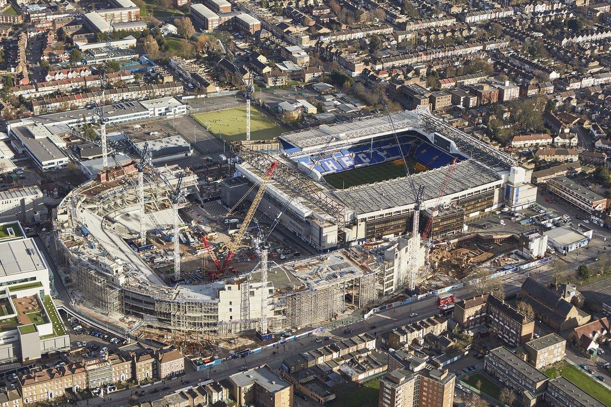 Obras do novo estádio do Tottenham