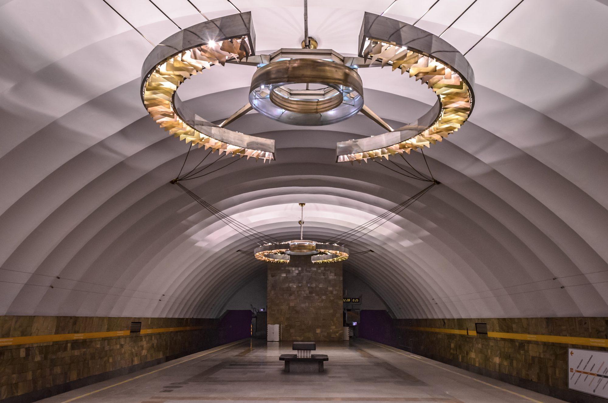 Estação de metro de Novocherkasskaya, em São Petersburgo. / Observador