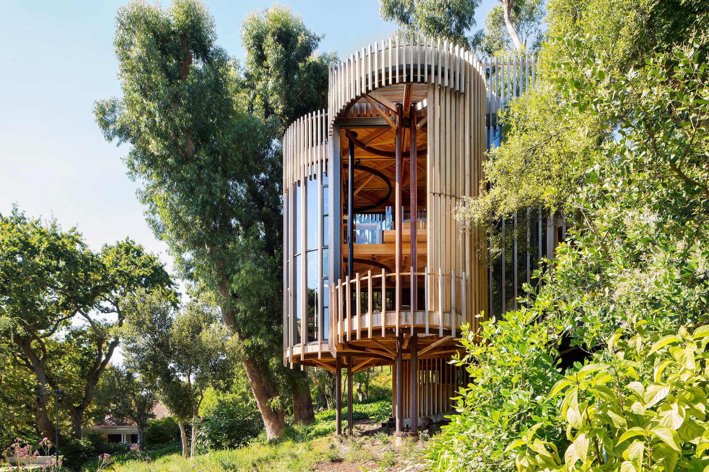 Casas de sonho uma incr vel mans o em forma de rvore na for Hotel con casas colgadas de los arboles