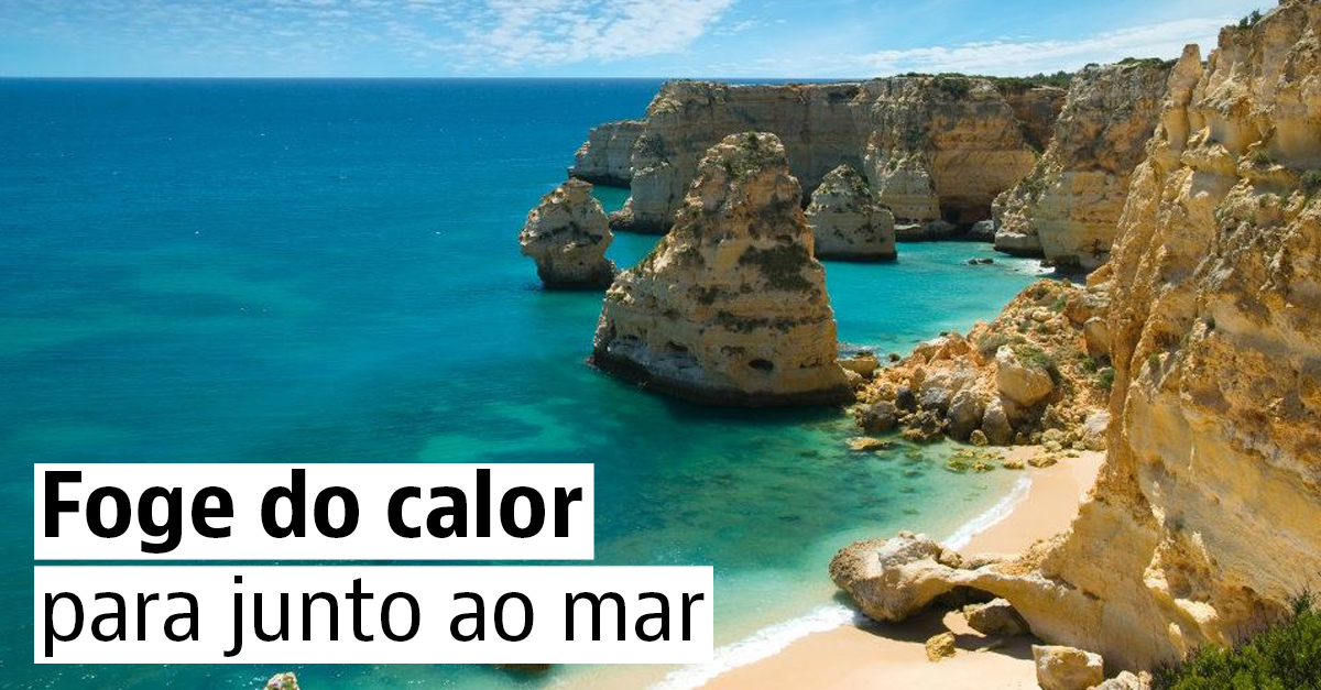 Foge do calor para junto ao mar