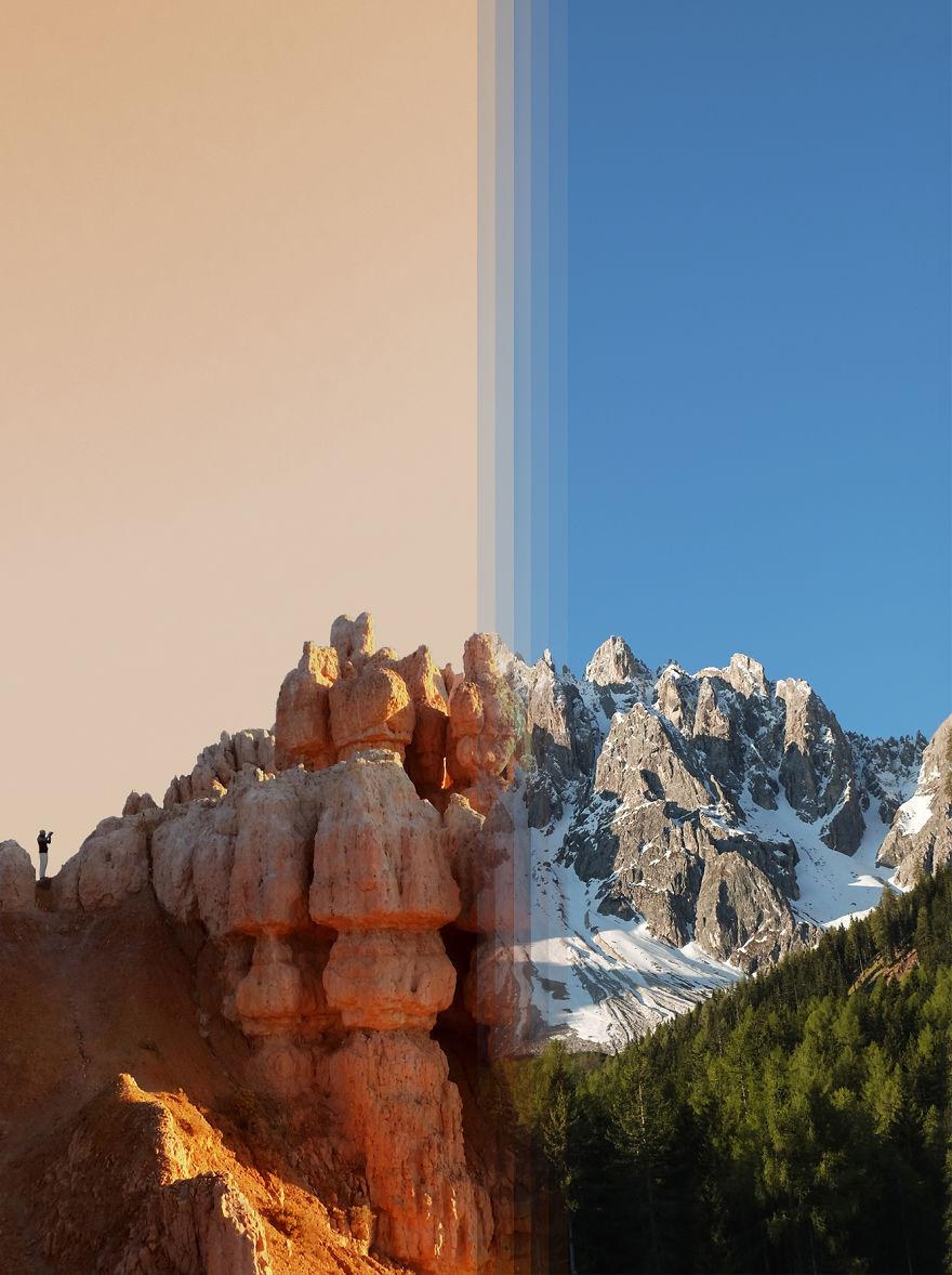 2 – Bryce Canyon nos EUA Vs Dolomita em Itália