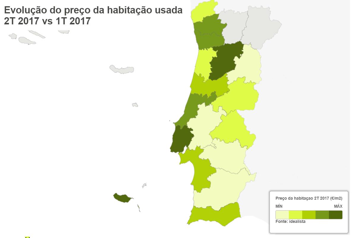 Preço das casas em Portugal sobe 3,8% em três meses