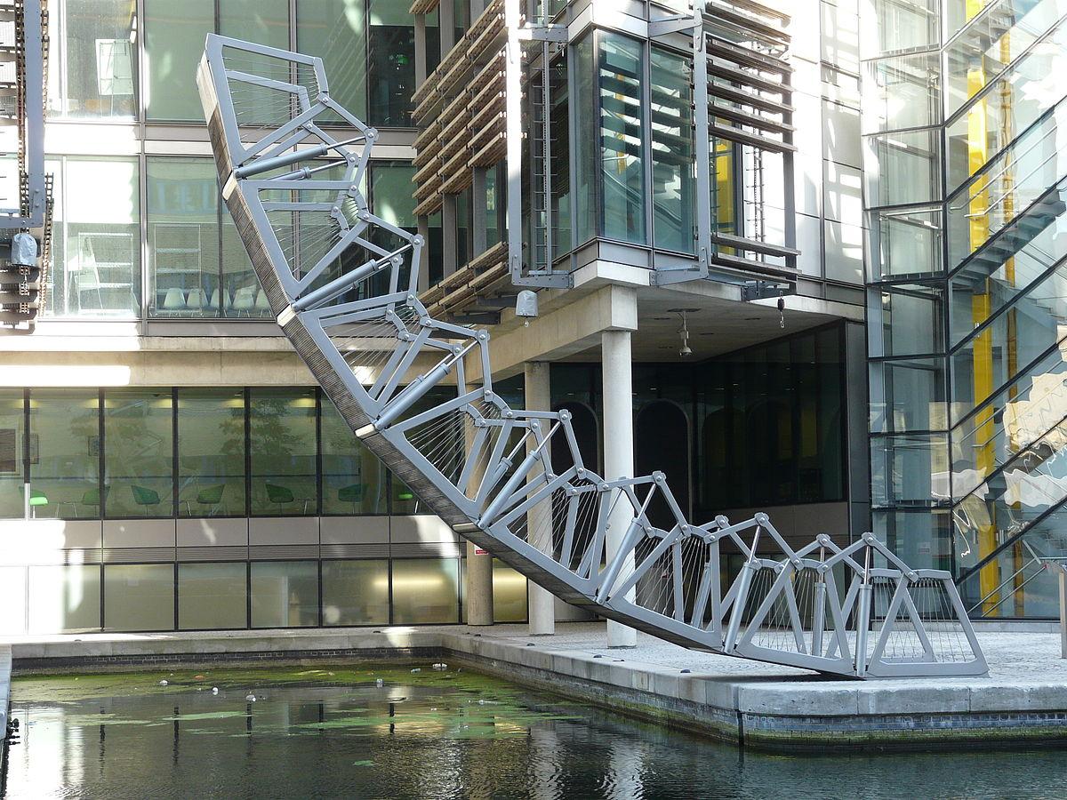 The Rolling Bridge, de Thomas Heatherwick. Paddington (Inglaterra)