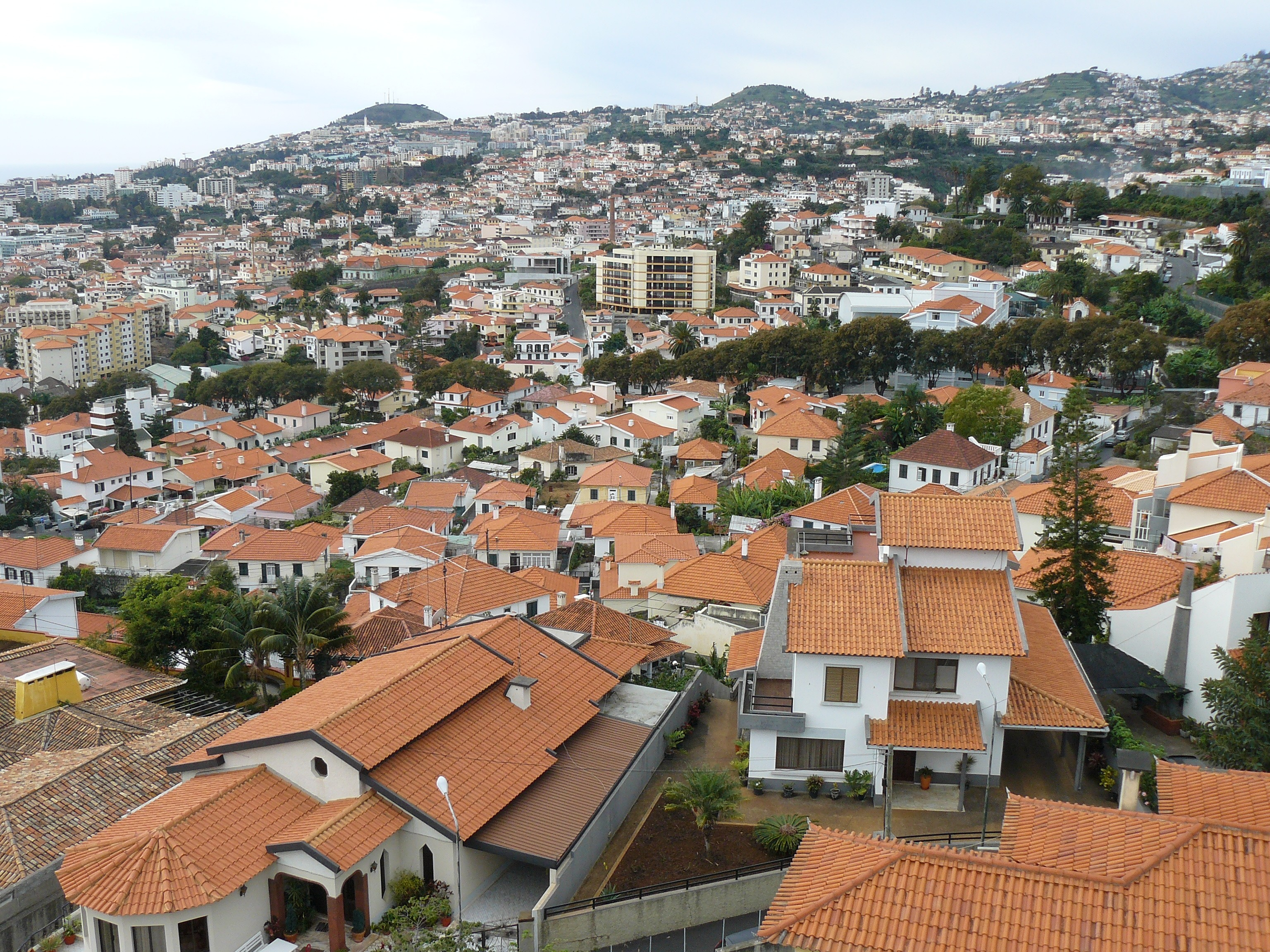 Vista panorâmica do Funchal. / Wikimedia commons
