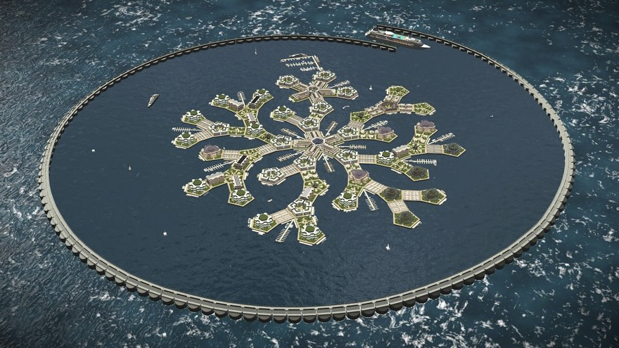 As cidades flutuantes vão tornar-se reais / Seasteading Institute