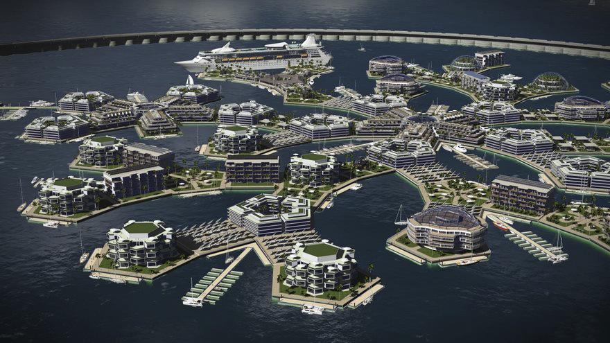 Será construída sobre uma base de 11 plataformas retangulares e pentagonais