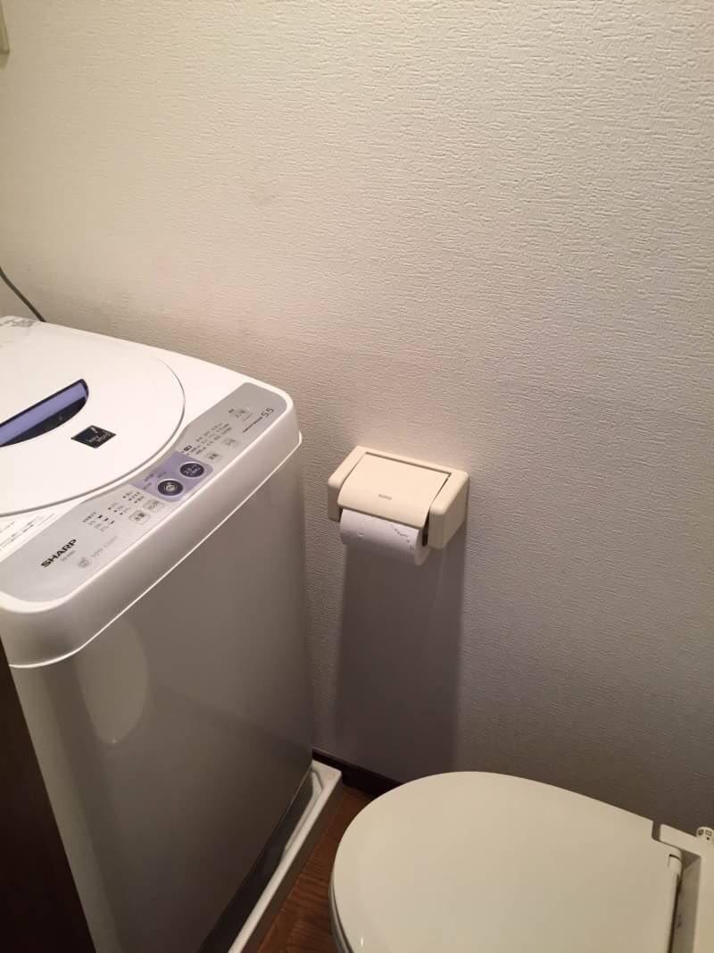Podes lavar roupa e ir à casa de banho ao mesmo tempo... se conseguires