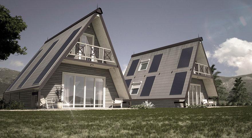 Casas simples, mas que foram pensadas ao pormenor...