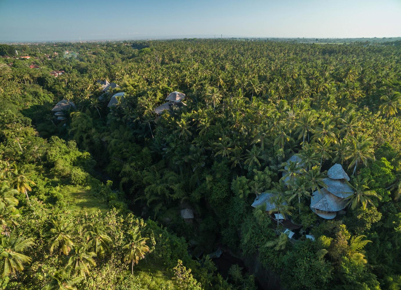 A Green Village encontra-se em pleno bosque de Ubud, na ilha de Bali