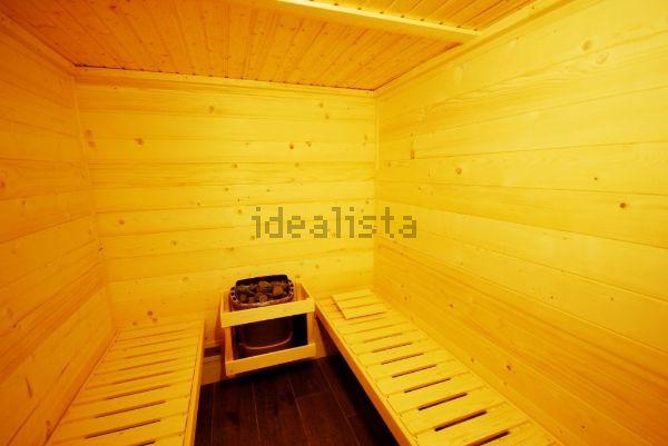 ... e tem direito a sauna...