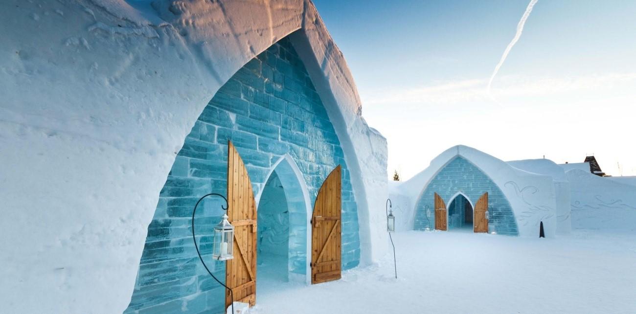 Um alojamento onde o frio não falta, no Canadá
