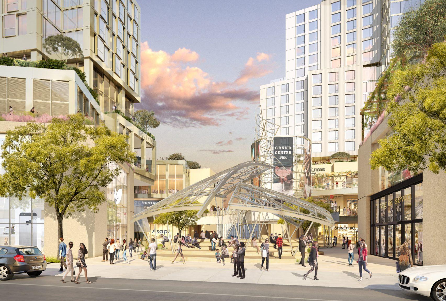 Os edifícios vão ser unidos através de uma zona pedonal